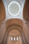 Interior and unflustered walls of the church of St. Simeon the Myrrh-Gushing, Novi Beograd, Serbia<br /> <br /> Unfinished walls await plaster and iconography