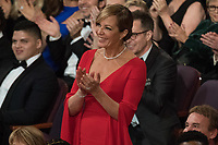 Oscar&reg; winner for her performance by an actress in a supporting role for work on &ldquo;I, Tonya&rdquo;, Allison Janney attends the live ABC Telecast of The 90th Oscars&reg; at the Dolby&reg; Theatre in Hollywood, CA on Sunday, March 4, 2018.<br /> *Editorial Use Only*<br /> CAP/PLF/AMPAS<br /> Supplied by Capital Pictures