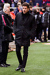 Atletico de Madrid's coach Diego Pablo Simeone during Copa del Rey match between Atletico de Madrid and SD Eibar at Vicente Calderon Stadium in Madrid, Spain. January 19, 2017. (ALTERPHOTOS/BorjaB.Hojas)