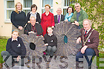 Pictured at the unveiling of the sculpture in Killarney Community College on Wednesday were Noemie Bellet, Eoin Fitzgerald, Michael Gleeson, Killarney Mayor, Bishop Bill Murphy, Stella Loughnane, Doreen Roche, Fiona O'Brien, Tomas Crowley, Ann O'Dwyer and John Crowley