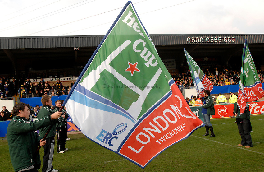 Photo: Richard Lane..London Wasps v Leinster. Heineken Cup Quarter Final. 31/03/2007. .Heineken Cup 2007 Twickenham flags.
