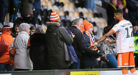 Blackpool's Michael Nottingham speaks to Blackpool fans at the end of the game<br /> <br /> Photographer Chris Vaughan/CameraSport<br /> <br /> The EFL Sky Bet League One - Burton Albion v Blackpool - Saturday 16th March 2019 - Pirelli Stadium - Burton upon Trent<br /> <br /> World Copyright &copy; 2019 CameraSport. All rights reserved. 43 Linden Ave. Countesthorpe. Leicester. England. LE8 5PG - Tel: +44 (0) 116 277 4147 - admin@camerasport.com - www.camerasport.com