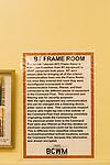 BT Frame room telephone exchange inside Bentwaters Cold War museum, Suffolk, England, UK information notice