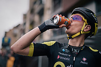 Niki Terpstra (NED/Direct Energie) post-finish<br /> <br /> 74th Omloop Het Nieuwsblad 2019 <br /> Gent to Ninove (BEL): 200km<br /> <br /> ©kramon