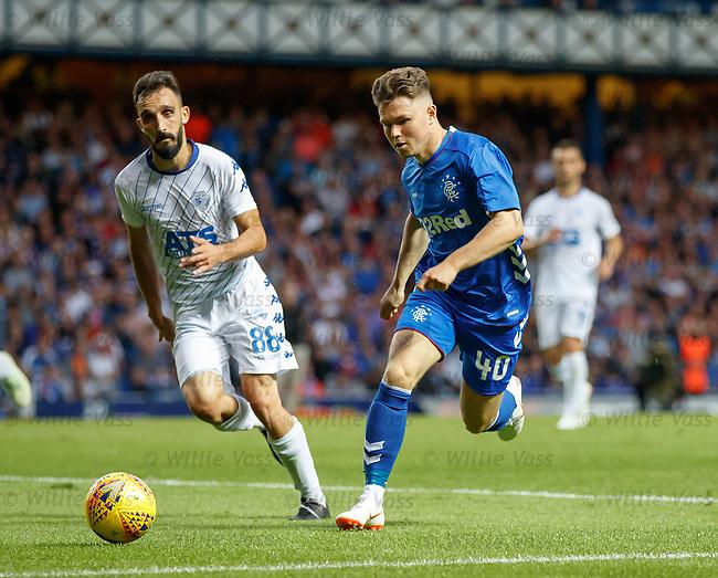 12.07.18 Rangers v FK Skhupi: Glenn Middleton