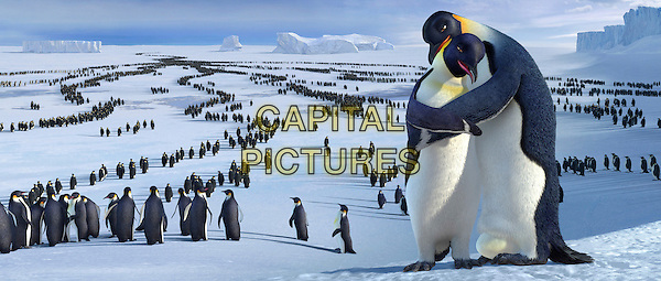 Norma Jean (voiced by NICOLE KIDMAN) & Memphis (voiced by HUGH JACKMAN).in Happy Feet.*Editorial Use Only*.Ref: FB.www.capitalpictures.com.sales@capitalpictures.com.Supplied by Capital Pictures.