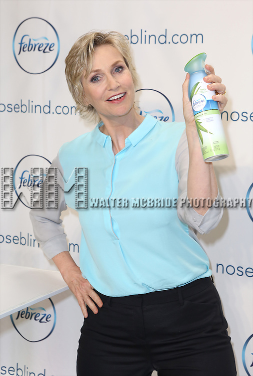 """Jane Lynch launches her hilarious """"Noseblind"""" PSA-style video with Febreze & """"Funny or Die"""" at Center 548 on July 9, 2014 in New York City."""