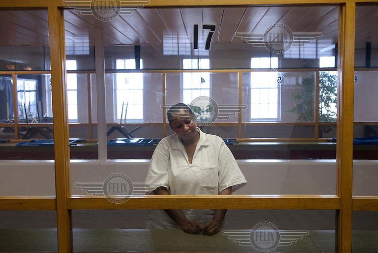 Linda Carty, photographed in the visitation room at the Mountview Unit penitentiary, Gatesville, Texas, is a British citizen on death row. Her supporters claim that she is innocent...