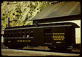 Baggage car #210 - Durango.<br /> D&amp;RGW  Durango, CO
