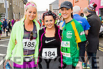 Cindy O'Shea, Sabrina Caffery and Denise Shanahan at the start of the Kerry's Eye Tralee, Tralee Half Marathon on Saturday.