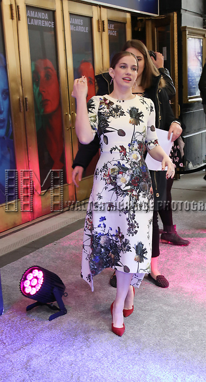 """Anna Chlumsky attends the Broadway Opening Night Arrivals for """"Angels In America"""" - Part One and Part Two at the Neil Simon Theatre on March 25, 2018 in New York City."""