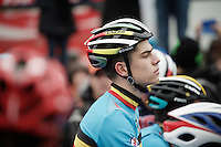 Wout Van Aert (BEL/Crelan-Vastgoedservice) at the start<br /> <br /> Men's Elite Race<br /> <br /> UCI 2016 cyclocross World Championships,<br /> Zolder, Belgium