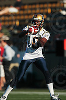 Aug 3, 2007; Hamilton, ON, CAN; Winnipeg Blue Bombers play the Hamilton Tiger-Cats at Ivor Wynne Stadium. The Tiger-Cats defeated the Blue Bombers 43-22. Mandatory Credit: Ron Scheffler. Pictured here is Winnipeg Blue Bombers wide receiver (0) O'Neil Wilson.