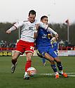Chris Beardsley of Stevenage and Adam Chicksen of Leyton Orient give chase.- Stevenage v Leyton Orient- npower League 1 - Lamex Stadium, Stevenage - 2nd January 2012  .© Kevin Coleman 2012