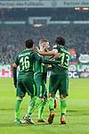 12.03.2018, Weserstadion, Bremen, GER, 1.FBL, SV Werder Bremen vs 1. FC Koeln<br /> <br /> im Bild<br /> Milos Veljkovic (Werder Bremen #13) bejubelt seinen Treffer zum 1:0, Zlatko Junuzovic (Werder Bremen #16), Florian Kainz (Werder Bremen #7), <br /> <br /> Foto &copy; nordphoto / Ewert