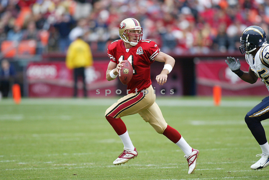 ALEX SMITH, of the San Francisco 49ers , in action against the San Diego Chargers    on October 15, 2006 in San Francisco, CA..Charger  win 48-19..Rob Holt / SportPics.