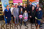 Launching the Mary Buckley O&rsquo;Keeffe Memorial walk in the Garvey Supervalu store in Tralee on Tuesday morning. <br /> Front l to r: Seamus O&rsquo;Connor, Emma and Chloa O&rsquo;Keeffe, Back l to r: Maureen O&rsquo;Brien and Marisa Reidy (Recovery Haven), Gda Aidan O'Mahony, Brendan O&rsquo;Keeffe, David Moran,  Kevin McCarthy, Breda Dyland and Trish Kelly (Kerry Cancer Support Group)