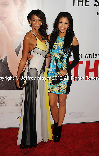 HOLLYWOOD, CA - DECEMBER 12: Judi Shekoni and Kali Hawk  arrive at the 'This Is 40' - Los Angeles Premiere at Grauman's Chinese Theatre on December 12, 2012 in Hollywood, California.