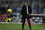 Antonio Conte Head coach of Inter looks on as the ball bounces by during the Coppa Italia match at Giuseppe Meazza, Milan. Picture date: 12th February 2020. Picture credit should read: Jonathan Moscrop/Sportimage