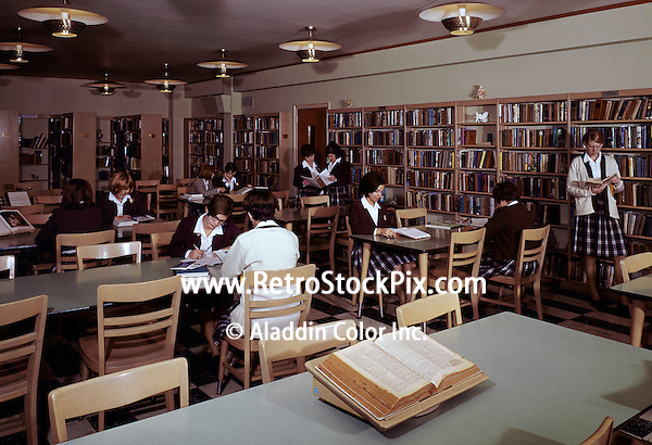 School children in library