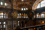 Interior of the Hagia Sophia in Istanbul, Turkey