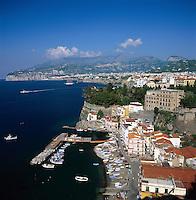 Italy, Campania, Sorrento: with Marina grande   Italien, Kampanien, Sorrento: mit Marina grande
