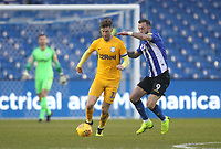 Preston North End's Paul Gallagher battles with  Sheffield Wednesday's Steven Fletcher <br /> <br /> Photographer Mick Walker/CameraSport<br /> <br /> The EFL Sky Bet Championship - Sheffield Wednesday v Preston North End - Saturday 22nd December 2018 - Hillsborough - Sheffield<br /> <br /> World Copyright &copy; 2018 CameraSport. All rights reserved. 43 Linden Ave. Countesthorpe. Leicester. England. LE8 5PG - Tel: +44 (0) 116 277 4147 - admin@camerasport.com - www.camerasport.com