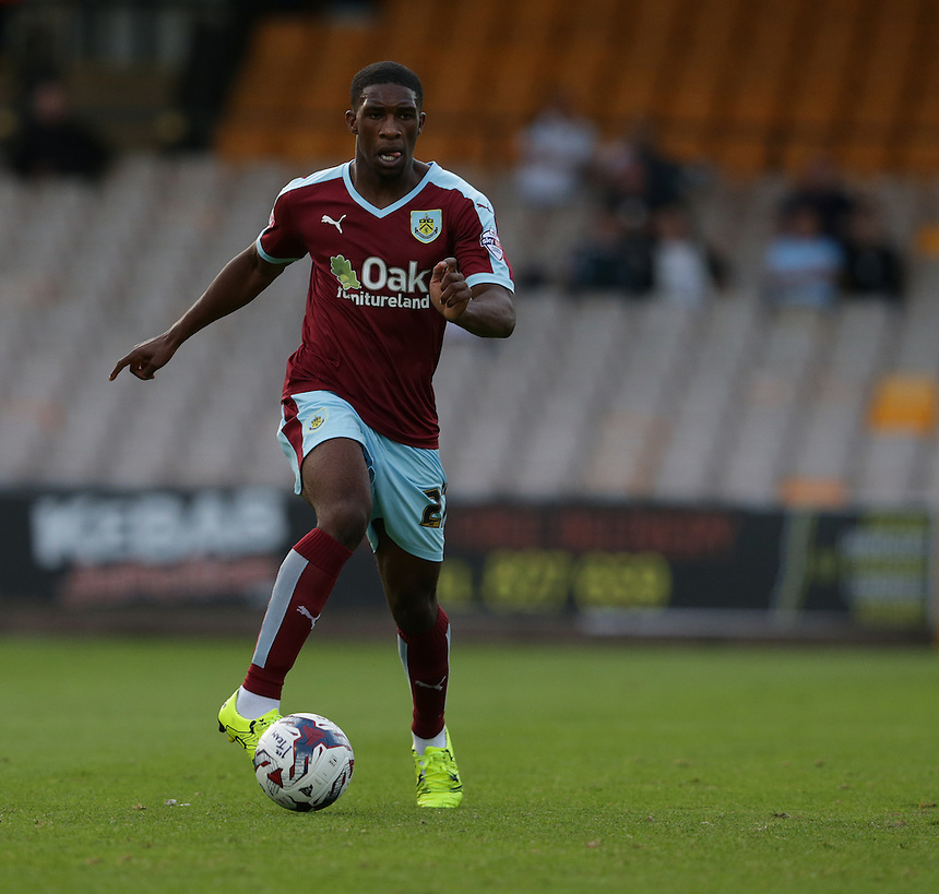 Burnley's Tendayi Darikwa<br /> <br /> Photographer Stephen White/CameraSport<br /> <br /> Football - Capital One Cup First Round - Port Vale v Burnley - Tuesday 11th August 2015 - Vale Park - Burslem<br /> <br /> Football - UEFA Europa League Qualifying Third Round First Leg - West Ham United v Astra Giurgiu - Thursday 30 July 2015 - Boleyn Ground - London<br /> <br /> &copy; CameraSport - 43 Linden Ave. Countesthorpe. Leicester. England. LE8 5PG - Tel: +44 (0) 116 277 4147 - admin@camerasport.com - www.camerasport.com<br />  <br /> &copy; CameraSport - 43 Linden Ave. Countesthorpe. Leicester. England. LE8 5PG - Tel: +44 (0) 116 277 4147 - admin@camerasport.com - www.camerasport.com