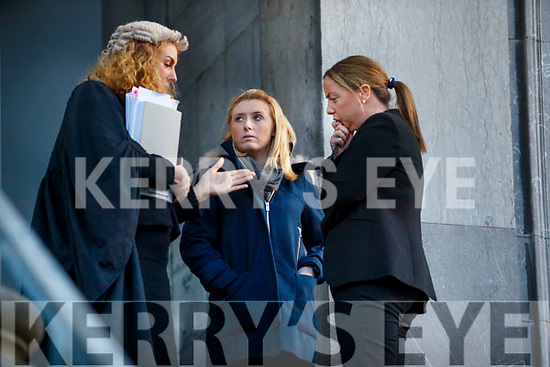 Sarah O'Connell with Katie O'Connell BL (Left) and Eimear Griffin, Solicitor.