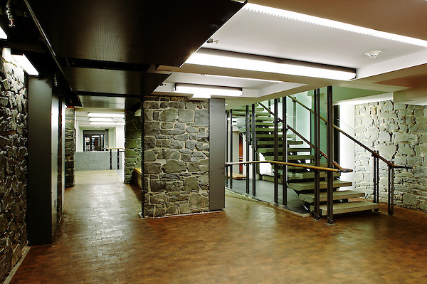 Davenport College at Yale University in New Haven, CT. basement stairway.