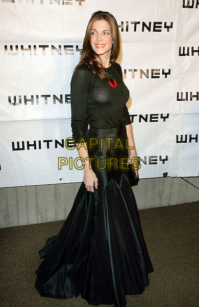 STEPHANIE SEYMOUR.At the 2006 Whitney Gala Celebrating Picasso and American Art, New York, NY, USA, 23  October 2006..full length black dress long sleeves skirt jumper top see through sheer red pendant necklace clutch bag nipples.Ref: ADM/JL.www.capitalpictures.com.sales@capitalpictures.com.©Jackson Lee/AdMedia/Capital Pictures.