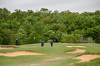Nick Taylor (CAN), Jonathan Byrd (USA), and Padraig Harrington (IRL) make their way to the green on 8 during round 2 of the AT&T Byron Nelson, Trinity Forest Golf Club, Dallas, Texas, USA. 5/10/2019.<br /> Picture: Golffile | Ken Murray<br /> <br /> <br /> All photo usage must carry mandatory copyright credit (© Golffile | Ken Murray)