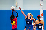 Hong Kong (HKG) vs Malaysia (MYS) during the Hong Kong Tri-Nations Netball Tournament 2017 match at Kowloon Park Sports Centre on 18 March 2017 in Hong Kong, Hong Kong. Photo by Marcio Rodrigo Machado / Power Sport Images