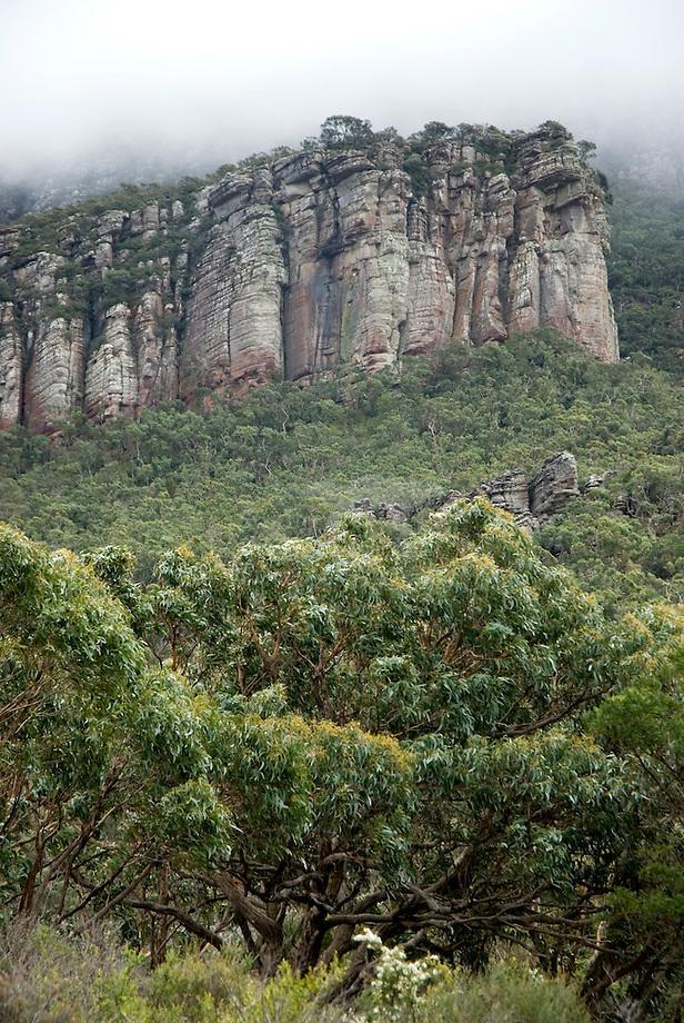 Rots formatie in Grampiums National Park, Victoria, Australia