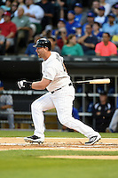 Chicago White Sox designated hitter Adam Dunn (44) at bat during a game against the Toronto Blue Jays on August 15, 2014 at U.S. Cellular Field in Chicago, Illinois.  Chicago defeated Toronto 11-5.  (Mike Janes/Four Seam Images)