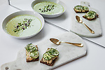 The Healing Honeydew Gazpacho and the White Bean Tea Sandwich from Sakara Life, which come prepared and packaged.<br /> <br /> Danny Ghitis for The New York Times