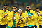 Brazil team group (BRA), <br /> AUGUST 20, 2016 - Football / Soccer : <br /> Men's Medal Ceremony <br /> at Maracana <br /> during the Rio 2016 Olympic Games in Rio de Janeiro, Brazil. <br /> (Photo by YUTAKA/AFLO SPORT)