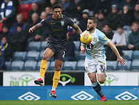 Sheffield Wednesday's Liam Palmer and Blackburn Rovers' Craig Conway<br /> <br /> Photographer Rachel Holborn/CameraSport<br /> <br /> The EFL Sky Bet Championship - Blackburn Rovers v Sheffield Wednesday - Saturday 1st December 2018 - Ewood Park - Blackburn<br /> <br /> World Copyright © 2018 CameraSport. All rights reserved. 43 Linden Ave. Countesthorpe. Leicester. England. LE8 5PG - Tel: +44 (0) 116 277 4147 - admin@camerasport.com - www.camerasport.com