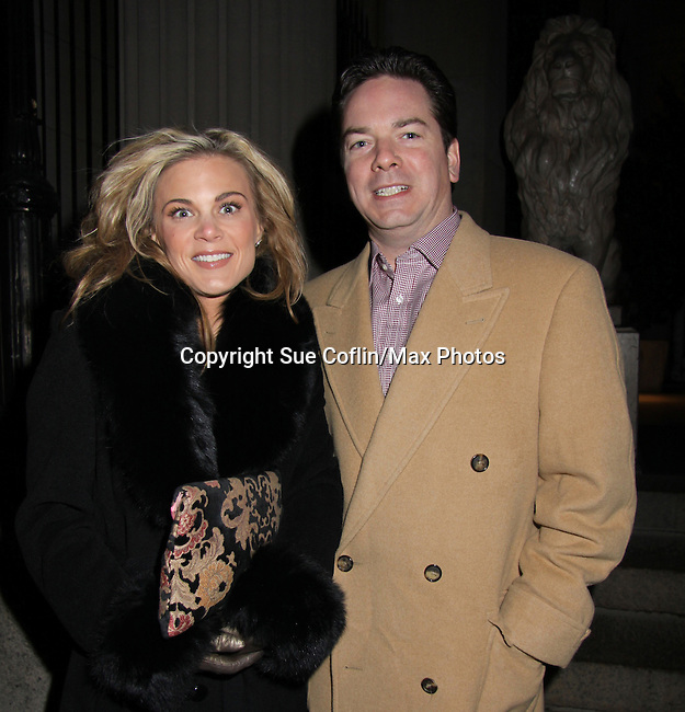 Gina Tognoni & husband Joe at the One Life To Live 2010 Holiday Party was celebrated on December 21, 2010 at Capitale, New York City, New York. (Photo by Sue Coflin/Max Photos)