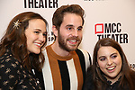 Francesca Carpanini, Ben Platt and Beanie Feldstein attend the opening night performance of the MCC Theater's 'Alice By Heart' at The Robert W. Wilson Theater Space on February 26, 2019 in New York City.