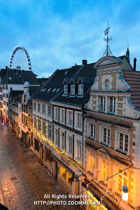 Dusseldorf Old Town In The Evening, Germany