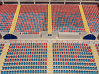Vista aerea de Complejo deportivo de la Comisi&oacute;n Estatal de Deporte, CODESON en Hermosillo, Sonora....<br /> <br /> Grader&iacute;o, Gradas y butacas del Estadio H&eacute;roe de Nacozari. Muchos, Varios. <br /> Azul y Rojo <br /> <br /> <br /> Photo: (NortePhoto / LuisGutierrez)<br /> <br /> ...<br /> keywords: