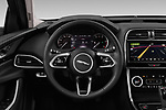 Car pictures of steering wheel view of a 2020 Jaguar XE S 4 Door Sedan