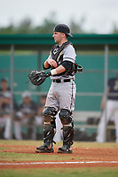 Edgewood Eagles catcher Jacob Popp (20) during the second game of a double header against the Bethel Wildcats on March 15, 2019 at Terry Park in Fort Myers, Florida.  Bethel defeated Edgewood 3-2.  (Mike Janes/Four Seam Images)