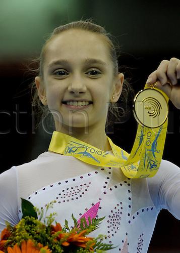 30.4.10 European Gymnastics Championships .Junior All Round Finals. KOMOVA Victoria of Russia gold medal winner.