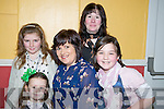 Niamh Cronin Cane, Sinead Cronin, Lucy Cahill, Sarah Cahill and Avril Murphy at the Killorglin Pantomines 50th panto, Mother Goose, in the CYMS Killorglin on Sunday.