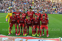 Cardiff City Stadium, Cardiff, South Wales - Tuesday 12th Aug 2014 - UEFA Super Cup Final - Real Madrid v Sevilla - <br /> <br /> The Sevilla team<br /> <br /> <br /> <br /> Photo by Jeff Thomas/Jeff Thomas Photography