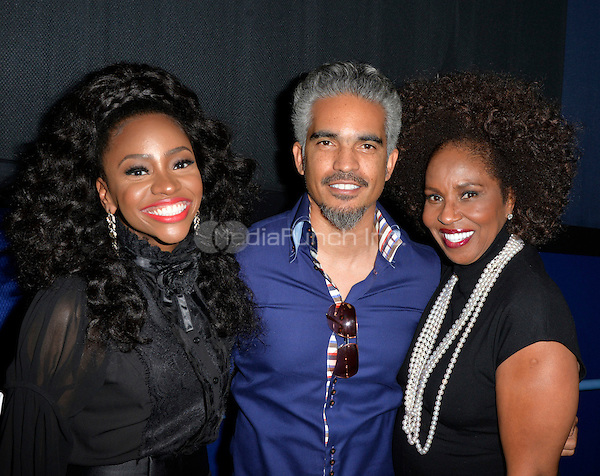 LOS ANGELES, CA- FEBRUARY 12: Teyonah Parris, Sol aponte, Pauletta Washington at the &quot;90 Days&quot; Movie Premiere at the Pan African Film Festival at the Cinemark Baldwin Hills in Los Angeles, California on February11, 2017. <br /> Credit: Koi Sojer/Snap'N U Photos/MediaPunch