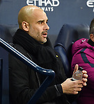Manchester City Manager Josep Guardiola before the start of the premier league match at the Etihad Stadium, Manchester. Picture date 16th December 2017. Picture credit should read: Robin ParkerSportimage