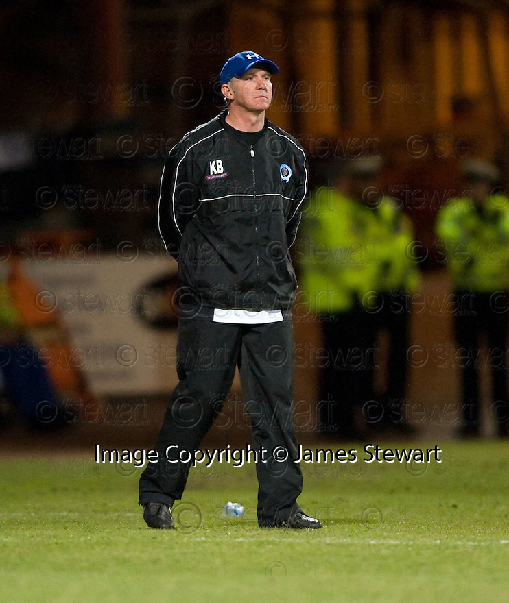 23/03/2010 Copyright  Pic : James Stewart.sct_jspa06_dundee_v_qots  .::  QUEEN OF THE SOUTH MANAGER KENNY BRANNIGAN   ::  .James Stewart Photography 19 Carronlea Drive, Falkirk. FK2 8DN      Vat Reg No. 607 6932 25.Telephone      : +44 (0)1324 570291 .Mobile              : +44 (0)7721 416997.E-mail  :  jim@jspa.co.uk.If you require further information then contact Jim Stewart on any of the numbers above.........
